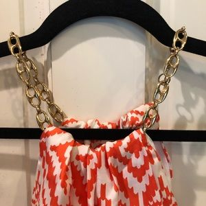 Milly of New York Tops - Milly gold necklace chain silk top size 6